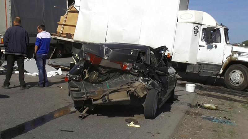 ВНижнеломовском районе столкнулись семь авто